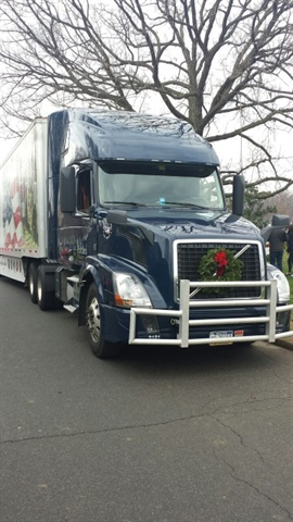 <p>On Saturday, each truck will carry approximately 4,700 wreaths. It takes 52 trucks to deliver 246,000 wreaths to Arlington National Cemetery alone! (Photo courtesy of Omnitracs)</p>