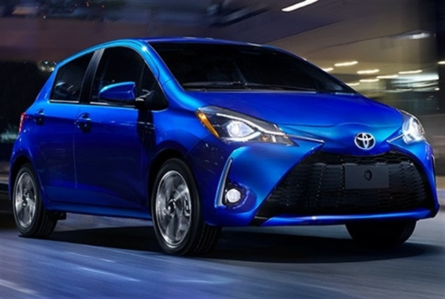 Photo of the 2018-model year Yaris courtesy of Toyota.
