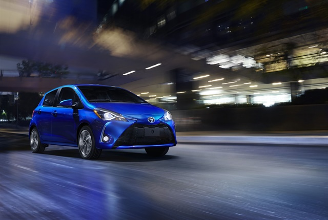 Photo of the 2018 Yaris courtesy of Toyota.