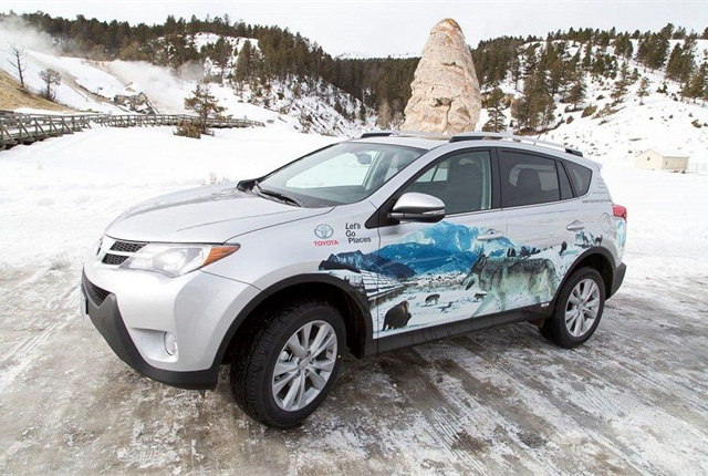 Toyota also donated a RAV4 to Yellowstone National Park.