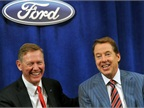 <p><em><strong>Alan Mullaly (left) seen in 2013. Photo courtesy of Ford.</strong></em></p>