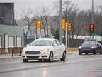 Photo of autonomous Ford Fusion Hybrid test vehicle courtesy of Ford.