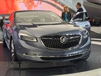 "GM's Buick Avenir Concept luxury sedan borrows its name from the French word for ""future."" Photo by Mike Antich"