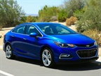 Photo of 2016 Chevrolet Cruze compact car.