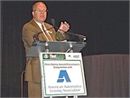 <p><strong><em>Mike Antich, editor and associate publisher of Automotive Fleet magazine, during last year's Fleet Safety Award ceremony.</em></strong></p>