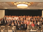"Posing for a ""class"" photo for this year's Global Fleet Conference in Miami were 98 of the more than 200 attendees.<br />Photo by Chris Wolski."