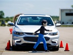 <p><strong><em>Front pedestrian braking, a new active safety technology available on the 2016 Chevrolet Malibu and 2016 Cadillac CT6, is one of many safety features tested at General Motors' new Active Safety Test Area at the Milford Proving Ground in Milford, Mich. Photo by Jeffrey Sauger for General Motors. </em></strong></p>