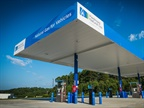 The Hickory fueling station is open to commercial fleet vehicles and the general public. Photo: Piedmont Natural Gas