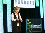 Photo of Kristi Webb speaking at the Element Fleet Roundtable courtesy of Element.