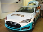 A Tesla fleet vehicle for Ben and Jerry's, which is a Unilever brand. Photo courtesy of Unilever.