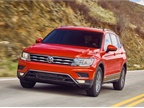 <p>The 2018 Volkswagen Tiguan features available 4MOTION all-whee; drive, Snow Mode, On-Road Mode, Off-Road Mode, and Off-Road Custom. Photo courtesy of Volkswagen.</p>