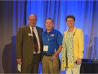 (l. to r.) Mike Antich, editor of Automotive Fleet; Joe Rader; and Pam