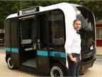 <p><em>Local Motors CEO John B. Rogers Jr. introduces Olli, an autonomous vehicle, on June 16 in Fort Washington, Md. Photo courtesy of IBM.</em></p>