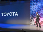 Dr. Gill Pratt, shown here during a presentation at CES 2016, is CEO of Toyota Research Institute. TRI has research facilities in California, Michigan and Massachusetts. Photo courtesy of Toyota.