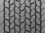 Tread of a ULP Ultra Drive Retread Tire courtesy of Michelin North America.