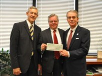 Sims Donates $5K Scholarship Check to LDS Business College