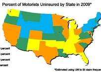 Study Shows States With Most Uninsured Motorists