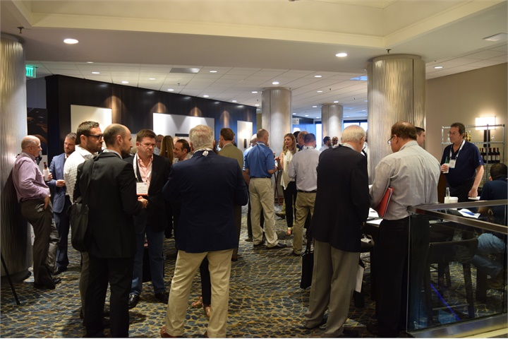 Attendees mingle at the opening reception of the 2017 Global Fleet