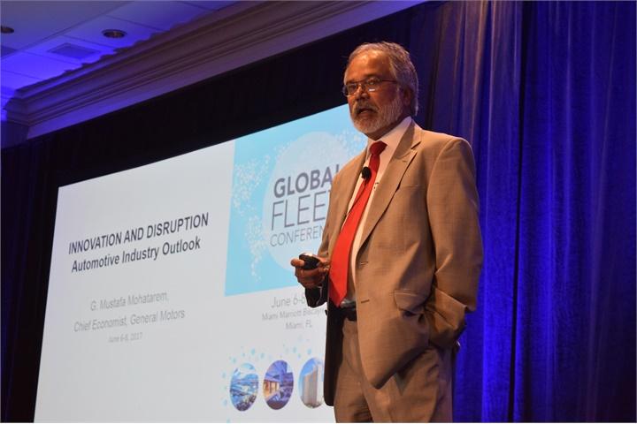 G. Mustafa Mohatarem, Ph.D., chief economist, General Motors, speaks