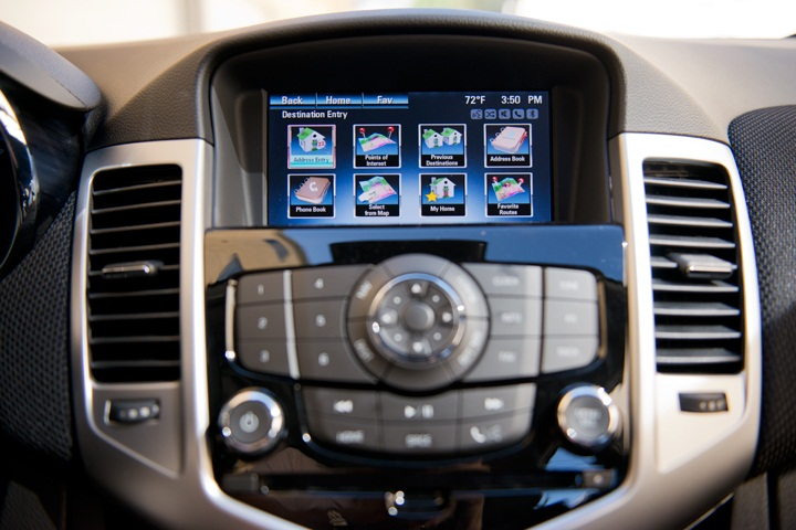 The Chevrolet Mylink Infotainment System Displays On A 7