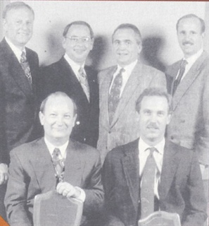 Houston Toyota Dealers >> TOYOTA: (seated, l to r) First-place winner Darrell Brooks of - Top 1992 Fleet Dealers Honored ...