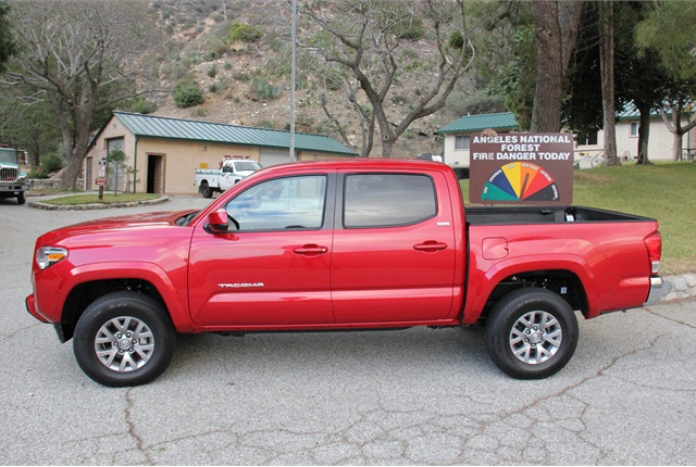 2016 Tacoma Double Cab Sr5 4x4 In Fire Engine Red Toyota