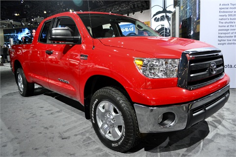 toyota showed its tundra full size pickup truck at the show 2012 l a auto show trucks vans. Black Bedroom Furniture Sets. Home Design Ideas