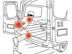 Stepping or crawling into a cargo van can cause musculoskeletal