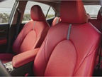 Leather-trimmed seats area heated and provide 8-way adjustment with