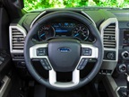 Four-spoke steering wheel: F-150's traditional, four-spoke design allows for a comfortable grip on the lower portion of the steering wheel.