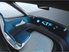 The dashboard consists of a wide, curved ring that displays relevant