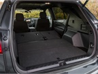 With the seats folded, available cargo space is 63.5 cubic feet.