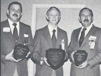 It was a big day for Datsun as factory people (from left) George