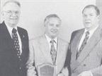 OLDSMOBILE:  (l to r) Ken Judd, manager of fleet sales administration
