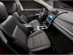 The interior of the Camry SE.