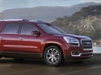 GM said the new Acadia features a  more upright  design.