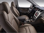 The Acadia Denali features perforated leather seating and