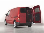 The rear doors on the Nissan NV200 are split 40/60 and can open 90 and