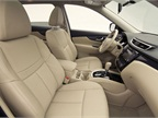 Nissan offers two interior colors, Almond and Charcoal, and