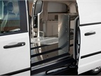 The C/V has a customizable cargo area for shelving and an aluminum