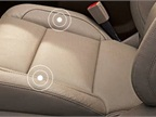 The safety alert seat helps hearing-impaired drivers by seat