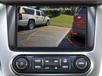 The rear vision camera when backing, displays the scene behind that