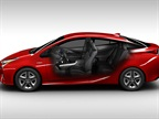 For the 2016 Prius, Toyota has lowered the hood and rear spoiler, and