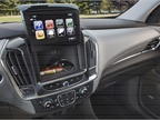 The dashboard display can be pushed up to reveal a hidden storage