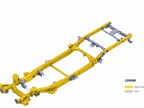 The steel frame is 88 pounds lighter than its predecessor, while