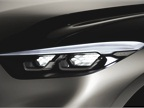 The truck features duel lens-free, honeycombed headlamp projectors