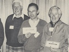 Lincoln-Mercury golf awards winners--John Rowley makes presentation to