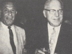 [1967] Industry pioneers Armund Schoen and Sam Lee (right) share a