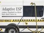 The Sprinter used to test the Adaptive ESP stability program, standard