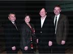 (L-R) Tom Caruso of ADESA, Linda Silverstein of Ford, Sandy Schwartz